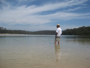 Peaceful Narrawallee Inlet, an easy walk from The Long Weekend Retreat